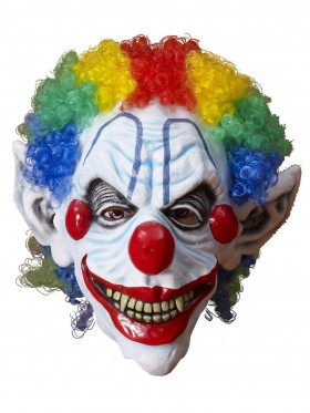 Halloween Scary Evil Full Mask Latex Foam Clown with Hair