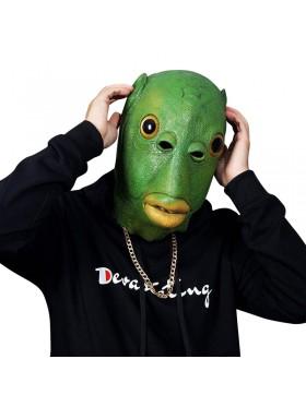 Green Fish Head Mask Costume Accessory