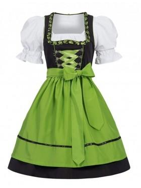 Green Ladies German Beer Maid costume