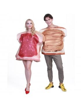 Adult 2pcs Couples Sandwich Costume