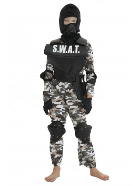 Kids SWAT Military Costume