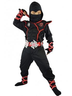 Kids Black Ninja Boys Jumpsuit