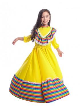 Kids Spanish Princess Flamenco Costume