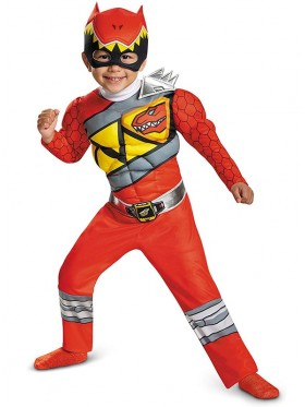 Red Ranger Dino Charge Boys Costume