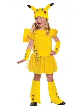 Kids Pikachu Pokemon Costume