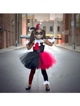 Girls Halloween Joker Costume