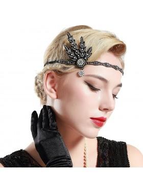 1920s Vintage Headband Great Gatsby Flapper Headpiece gangster ladies