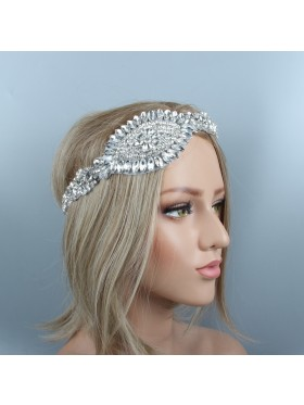 1920s Headband Vintage Bridal Great Gatsby Flapper Headpiece gangster ladies Rhinestone