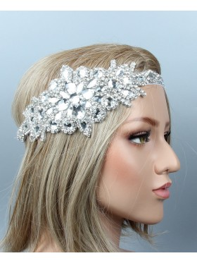 1920s Headband Vintage Bridal Great Gatsby Flapper Headpiece gangster ladies