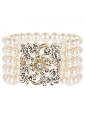 Gold 20s Flapper Bracelet