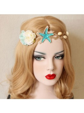 Ladies Mermaid Crown Seashell Headpiece