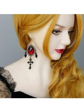 Dracula Gothic Punk Earrings Accessory