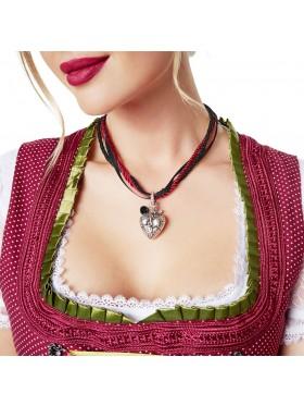 Ladies Oktoberfest Necklace Heart Pendant