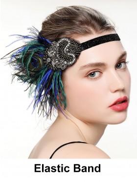 Ladies 20s Great Gatsby Headpiece Costume Accessories