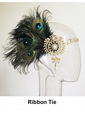 Bridal 1920s Feather Feather Headpiece