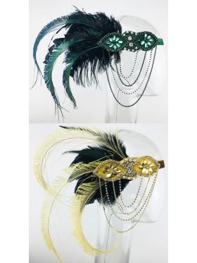 Gatsby 1920s Feather Headdress Fancy Dress
