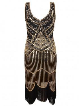1920s Vintage Great Gatsby Charleston 20s Flapper Fancy Dress gatsby gangster ladies