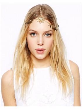 Bohemian Deco Vintage Hairband 20s  Flapper Chain Headband Great Gatsby Downton Wedding Boho Goddess