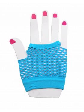 Light Blue Fishnet Gloves