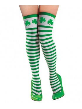 ST PATRICKS DAY Stockings LEPRECHAUN  NOVELTY irish green COSTUME ACCESSORY