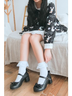 Ladies White Lolita Socks