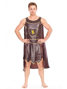 Mens Roman Warrior Gladiator Fancy Dress Costume