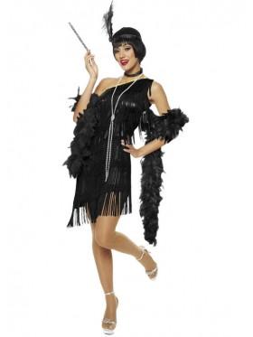 1920s Charleston Black Flapper Costume