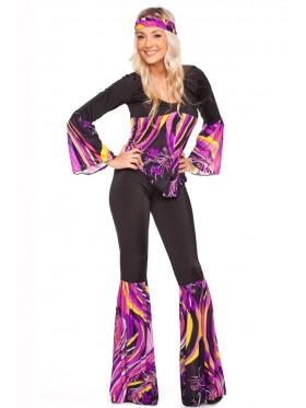 1960s 70s Retro Hippie Go Go Girl Disco Fancy Dress