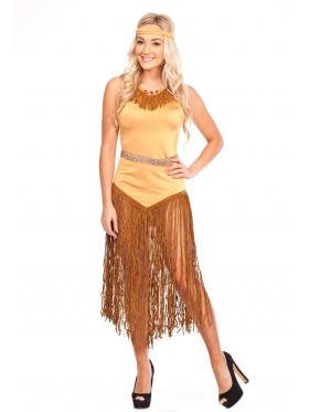 Ladies Indian Princess Wild West Fancy Dress