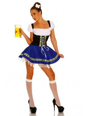 Ladies Beer Wench German Heidi wench Costume