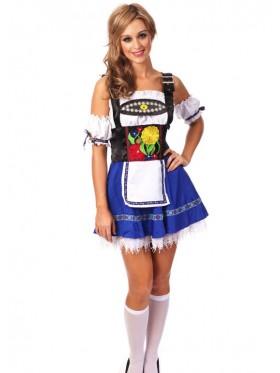 Blue Oktoberfest Beer Maid Inspired Halloween Costume