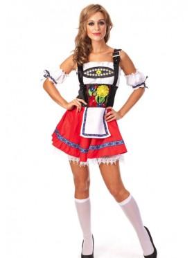 Red Oktoberfest Inspired Halloween Costume