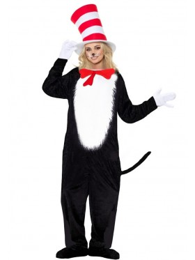 LADIES CAT IN THE HAT JUMPSUIT