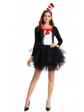 Ladies DR SEUSS CAT IN THE HAT COSTUME DRESS