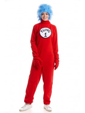 Adult Dr Seuss Thing 1 Thing 2 Jumpsuit