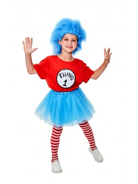 Kids Dr Seuss Thing 1 and Thing 2 Costume Full set