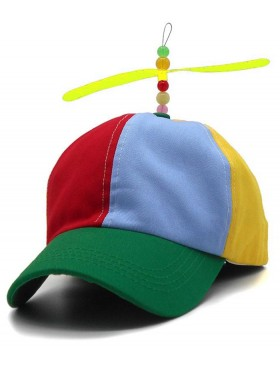 Kids Propeller Beanie Ball Cap Baseball Hat Multi-Color Clown Adjustable