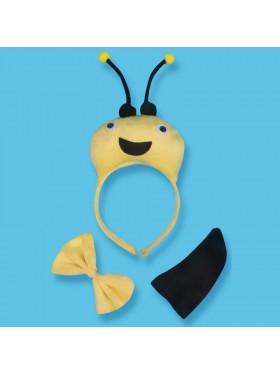 Bee Headband Bow Tail Set Kids Animal Farm Zoo Party Performance Headpiece