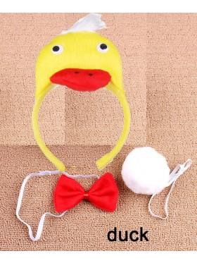 Duck Headband Bow Tail Set Kids Animal Farm Zoo Party Performance Headpiece