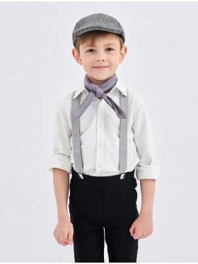 3pcs set Victorian boy colonial boy costume cap hat braces neckerchief kit