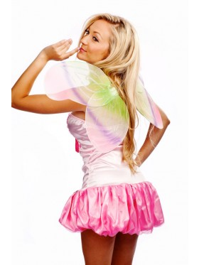 Ladies Colorful Girls Angel Fairy Dress Party Costume Butterfly Wings