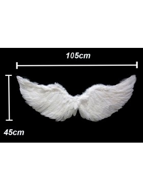105cm X 45cm Feather Wings White Angel Fairy Adults Costume Outfit Party Cosplay