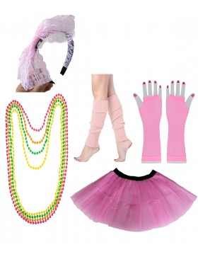 Baby Pink 80s accessory set
