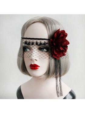 Halloween Veil Headpiece Vintage Dracula Queen Headdress Wedding Lolita Vampire Theme Twilight