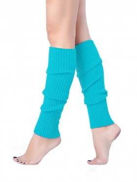 Lake Blue Licensed Womens Pair of Party Legwarmers Knitted Dance 80s Costume Leg Warmers