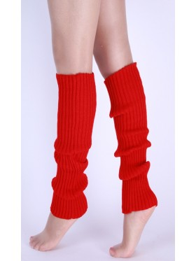 Red Licensed Womens Pair of Party Legwarmers Knitted Dance 80s Costume Leg Warmers