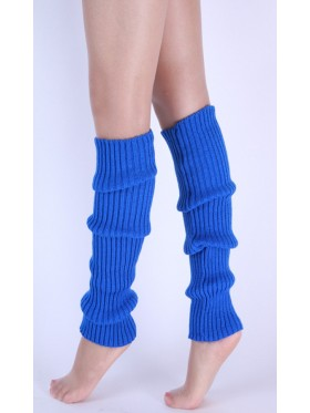 Blue Licensed Womens Pair of Party Legwarmers Knitted Dance 80s Costume Leg Warmers