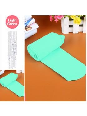 Light Green 80s 70s Disco Opaque Womens Pantyhose Stockings Hosiery Tights 80 Denier