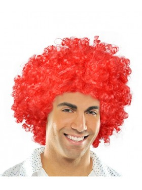 Red Funky Afro Wig