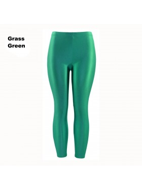 Grass Green 80s Shiny Neon Costume Leggings